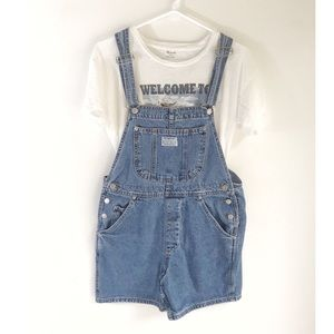 Vintage Levi's Two Horse Overall Shorts Size M